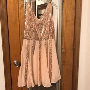 Light peach sequin dress. New without tags.